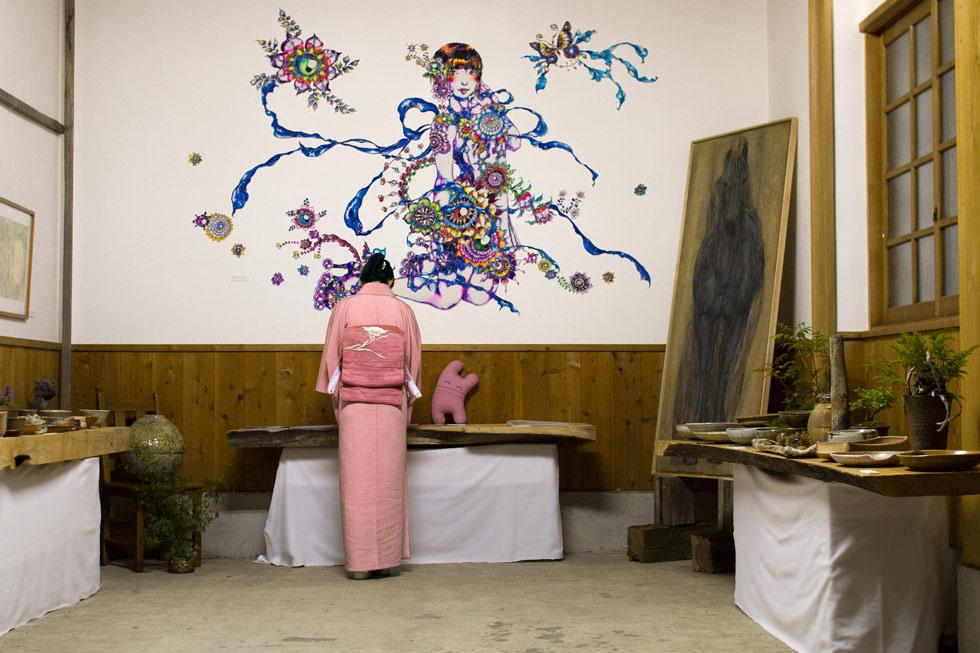 Kanna Fall Art Festival 2014 Inside Kura Exhibition space