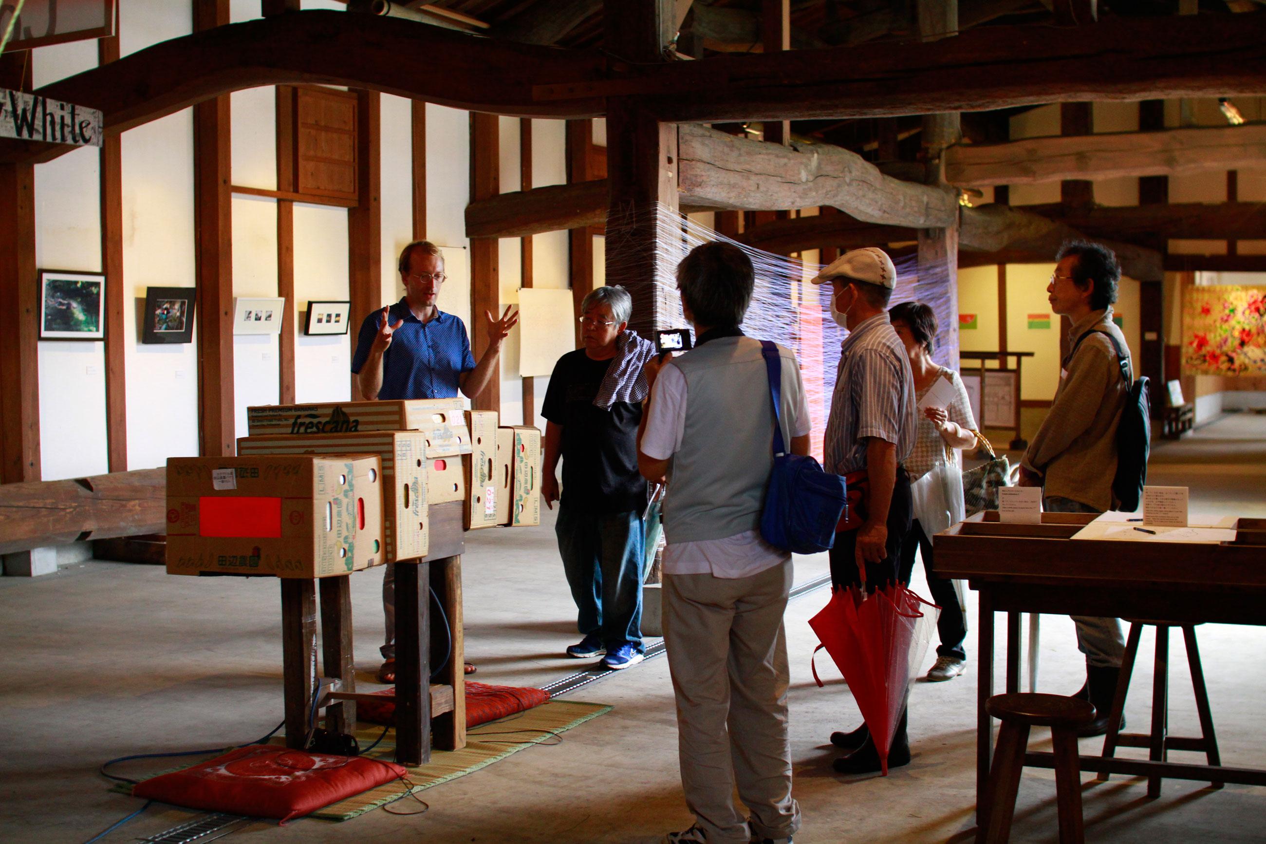 かんな秋アート祭り2016年鬼石展示会Art Residency Japan Kanna Art Festival 2016 Kjell Hahn キール・ハーン