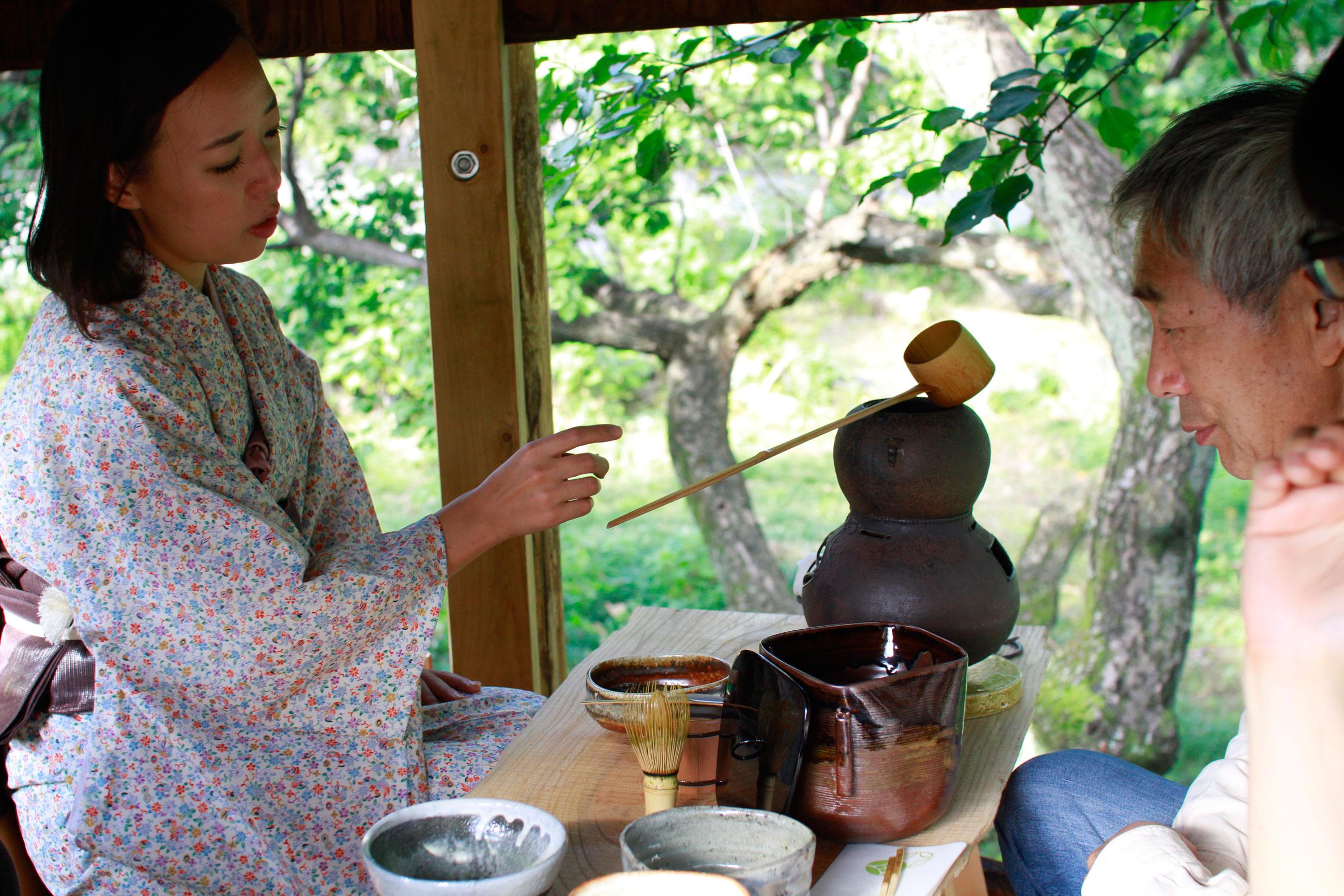 かんな秋アート祭り2016年鬼石展示会Art Residency Japan Kanna Art Festival 2016 茶人小堀芙由子