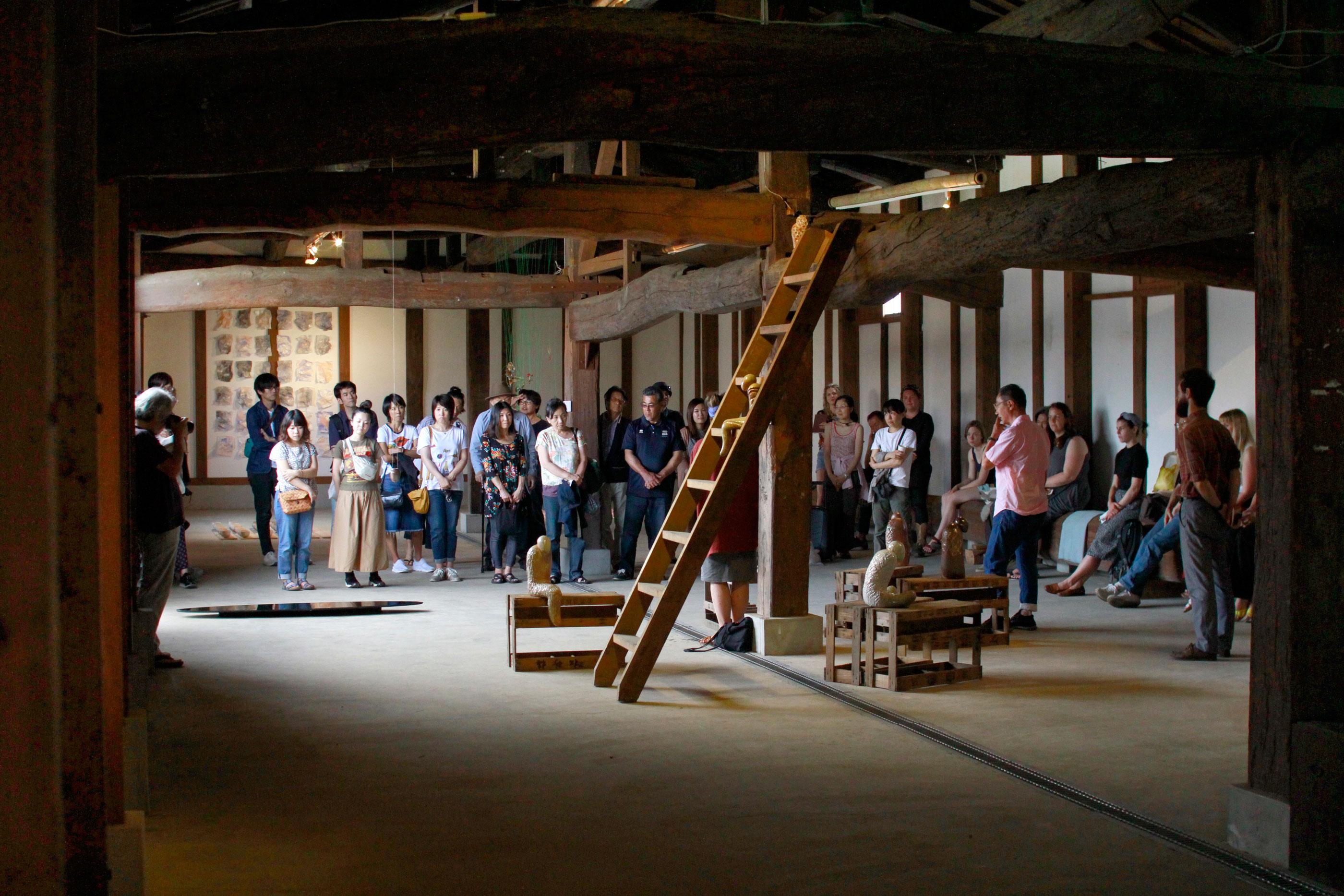 Japan Art Exhibition Shiro Oni Studio Art Residency シロオニスタジオの展覧会 2017 June Artist Talk